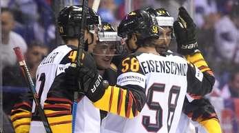 Die deutsche Eishockey-Nationalmannschaft besiegte Finnland mit 4:2.