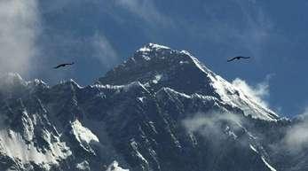 Der Mount Everest im Himalaya ist der höchste Berg der Welt.