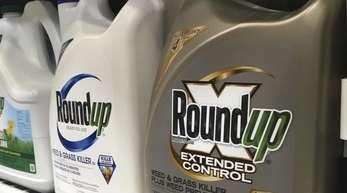Das Unkrautvernichtungsmittel «Roundup» in einem Ladenregal in San Francisco.