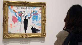 «The Death of Michael Stewart» von Jean-Michel Basquiat im New Yorker Guggenheim-Museum.
