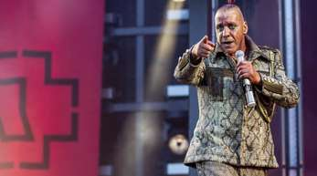 Till Lindemann, Frontsänger von Rammstein, im Berliner Olympiastadion.