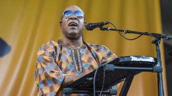 Stevie Wonder versicherte, dass es ihm gut ginge.