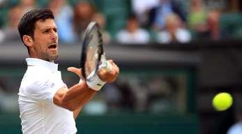 Steht zum neunten Mal im Halbfinale von Wimbledon: Novak Djokovic in Aktion.
