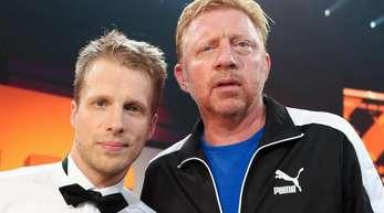 Moderator Oliver Pocher (l) und Tennislegende Boris Becker 2013 in der Fernsehshow «Alle auf den Kleinen».