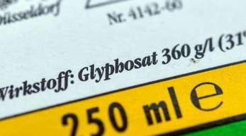 Die Verpackung eines Unkrautvernichtungsmittels, das den Wirkstoff Glyphosat enthält.