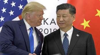 US-Präsident Donald Trump und der chinesische Präsident Xi Jinping am Rande des G-20-Gipfels in Osaka.