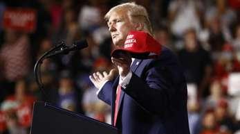 US-Präsident Donald Trump am Donnerstag bei einer Wahlkampfveranstaltung.