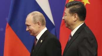Kremlchef Putin und Chinas Präsident Xi Jinping bei einem Treffen im April in Peking.