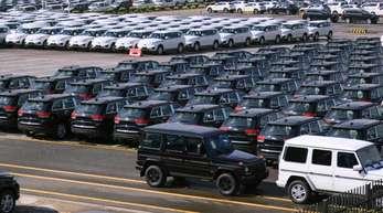 Auto-Verschiffung im Hafen der chinesischen Stadt Guangzhou: Der Handelsstreit mit den USA schadet nicht nur China.