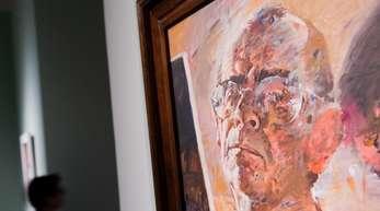 Das Gemälde «Selbstbildnis» des Künstlers Willi Sitte ist in der Ausstellung «Utopie und Untergang. Kunst in der DDR» zu sehen.