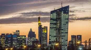 Das Hochhaus der EZB in Frankfurtb am Main.