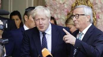 Trafen sich Anfang der Woche zu einem Gespräch:Boris Johnson (l.), und Jean-Claude Juncker.