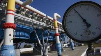 Ein Gasdruckmessgerät der Gasverdichterstation im Dorf Mryn, etwa 130 km von Kiew, Ukraine. Die EU vermittelt bei Gasgesprächen zwischen Russland und Ukraine.