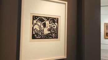 """""""Mann und Weibchen"""" von Emil Nolde in der Jerusalemer Gurlitt-Ausstellung."""