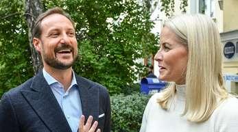 Prinz Haakon und Kronprinzessin Mette-Marit in Berlin.