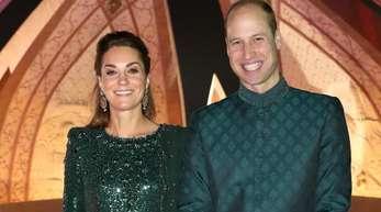 Prinz William und Herzogin Kate bei einem Empfang, der vom britischen Hochkommissar in Pakistan am National Monument ausgerichtet wurde.
