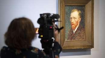 Vincwnt van Gogh als Selbstporträt aus dem Jahr 1887.