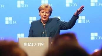 Bundeskanzlerin Angela Merkel spricht auf dem Deutschen Arbeitgebertag.