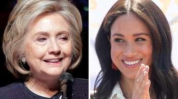 Hillary Clinton (l) nimmt Herzogin Meghan in Schutz.