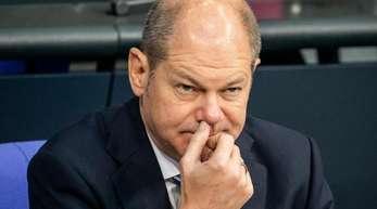 Bundesfinanzminister Olaf Scholz Ende letzter Woche während einer Debatte im Bundestag.