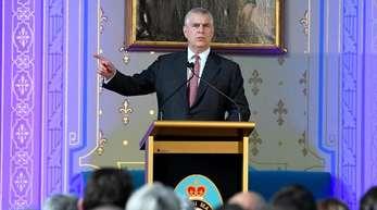 Prinz Andrew spricht auf einer Veranstaltung seiner «Pitch@Palace»-Initiative.