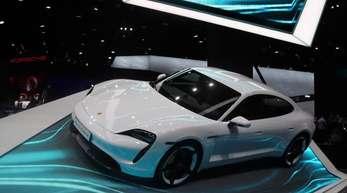 Der Porsche Taycan feierte auf der diesjährigen IAA-Automesse in Frankfurt Premiere.