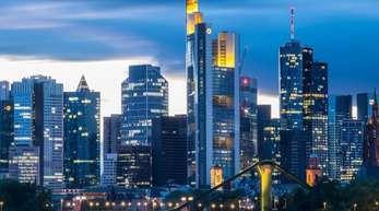 Die Bankenskyline in Frankfurt am Main.
