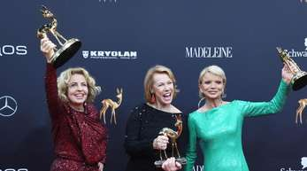 Drei Frauen, drei Ehrenpreise:Michaela May (l-r), Gaby Dohm und Uschi Glas.