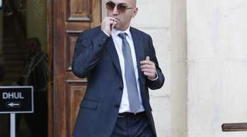 Yorgen Fenech vor dem Gerichtsgebäude in Maltas Hauptstadt Valletta.