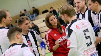 Trainerin Birthe Lilienthal hofft mit den Faustballern des FBC Offenburg auf einen positiven Jahresabschluss.