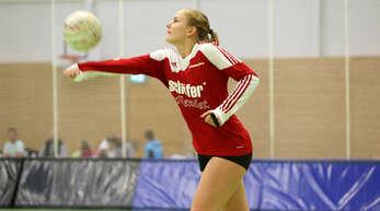 Annika Foit macht auch beim Faustball eine gute Figur.