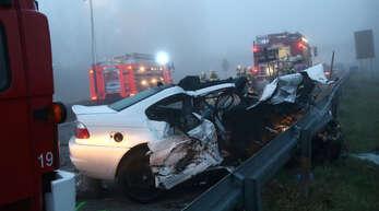 Am 18. November 2012 sterben bei einem Geisterfahrer-Unfall auf der A 5 sechs Menschen.