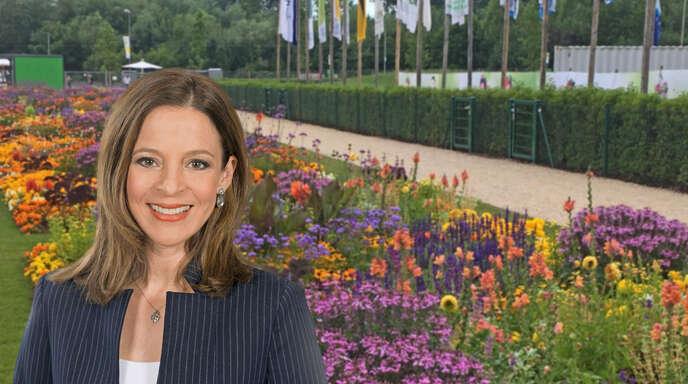 Stephanie Haiber moderiert am Samstag live von der Landesgartenschau.
