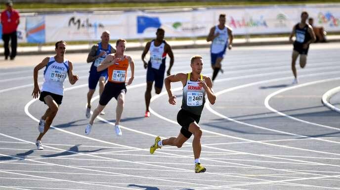 Matthias Laube gewann in Málaga die Goldmedaille im Zehnkampf mit fast 500 Punkten Vorsprung.