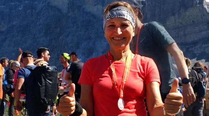 Geschafft: Claudia Falk von der LG Brandenkopf war nach 5:14 Stunden im Ziel auf der Kleinen Scheidegg.