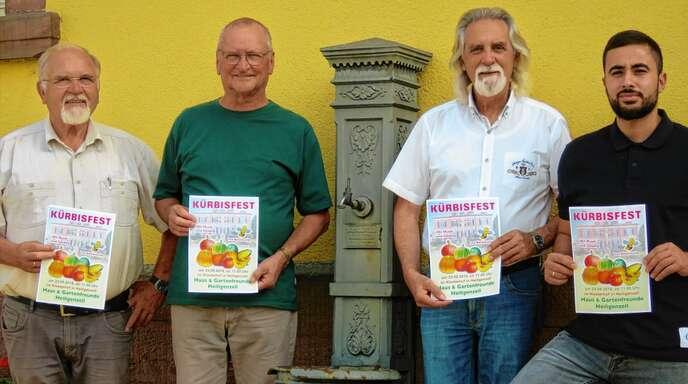 Stellten das Kürbisfest vor (von links): Gerold Eichhorn, Franz Huber, Helmut Britsch und Hilal Badr.