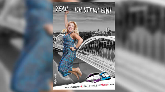 Freudensprünge für die Öffentlichen macht Sibylle Schäfer als Bus-Pionierin