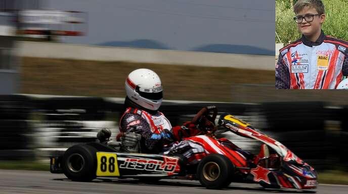 Der Ichenheimer Lennart Schnebel hat in seinem Jesolo-Rennkart Platz zehn in der Gesamtwertung des ADAC-Kart-Cups erreicht.