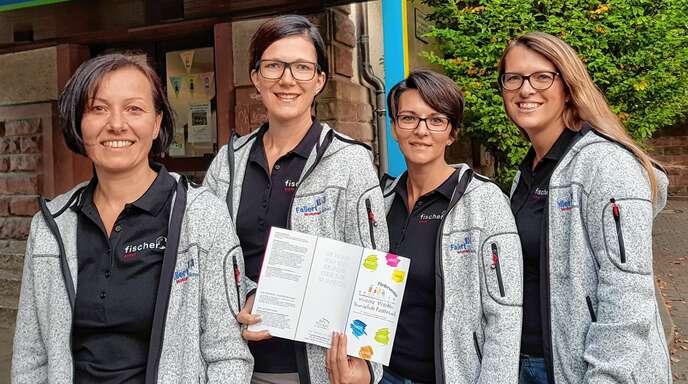 Mitstreiter gesucht für Unterstützung der Fautenbacher Schüler (von links): Paula Sucher, Sandra Ronecker, Nadine Doll und Vorsitzende Patricia Hodapp.