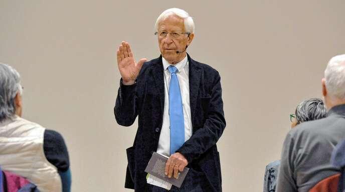 Franz Alt zeigte, dass er mitreißend über tiefgründige Themen reden kann.
