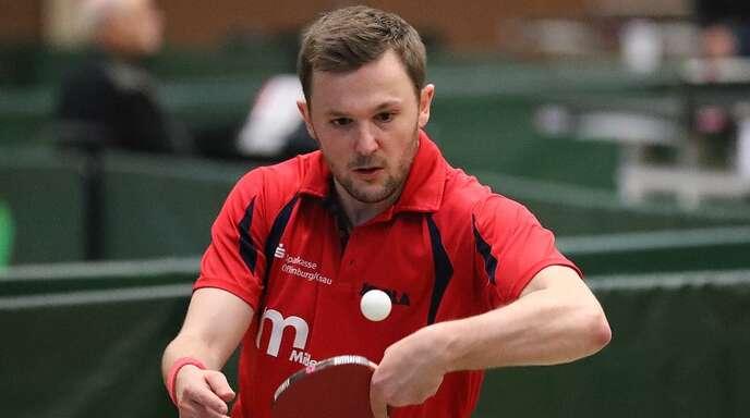 Raphael Becker feierte mit den TTSF Hohberg den zweiten Sieg im zweiten Spiel.