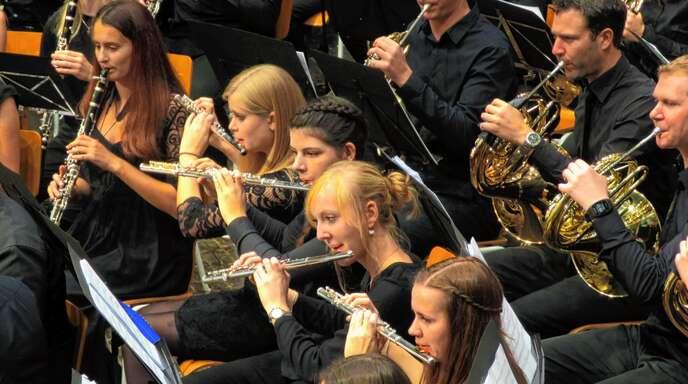 Ein abwechslungsreiches und anspruchsvolles Programm boten die jungen Musiker in der Friesenheimer Sternenberghalle.