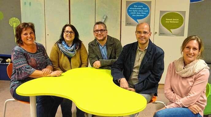 Der neugewählte Vorstand des Elternbeirats der Realschule Oberkirch: (von links) Lenka Busam (Kasse), Angelika Casella, Manfred Fien, Werner Franz und Simone Kiefer.