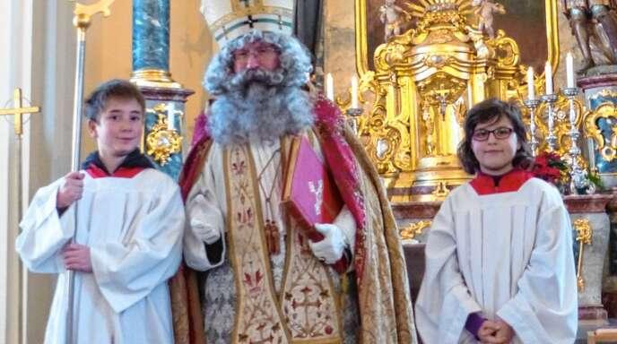 Der heilige Bischof Nikolaus ist auch heute noch ein immer und überall gern gesehener Gast.