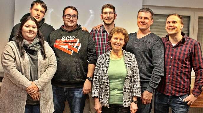 Der neu gewählte Vorstand des Historischen Vereins Schuttern (von links): Selina Herrmann, Alexander Schillinger, Matthias Rudolph, Manuel Hugelmann, Christa Surbeck, Eduard Grien und Johannes Buchholz.