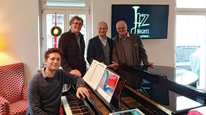 Lawrence Grey, Jürgen Siegloch, Claudio Labianca und Dominic Müller freuen sich auf die »Jazz Nights« im März des nächsten Jahres.