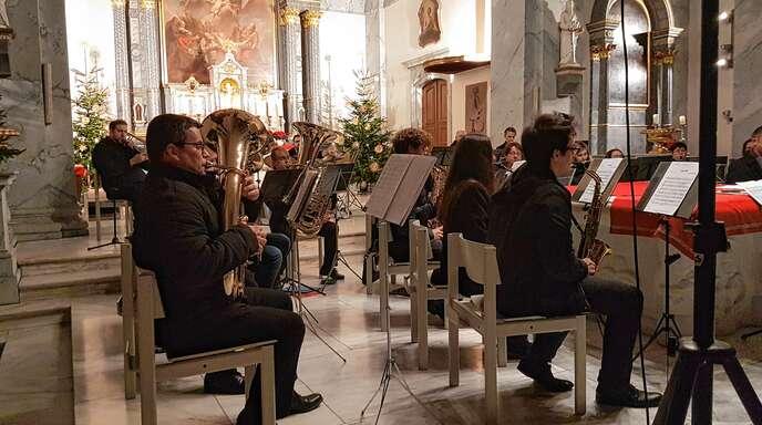 An Weihnachten spielten die Schutterner in der Kirche.