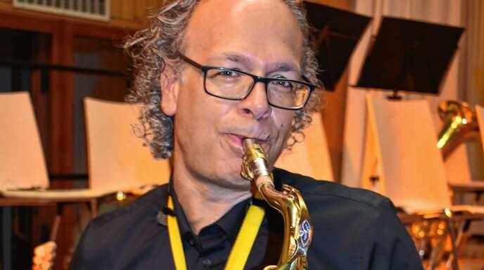 Timothy Peddell lebt zwar seit drei Jahren in Lahr – sein Saxophon spielt er aber im Oberschopfheimer Musikverein. Seinen ersten großen Auftritt hatte der 50-jährige Mann aus Australien beim Neujahrskonzert.