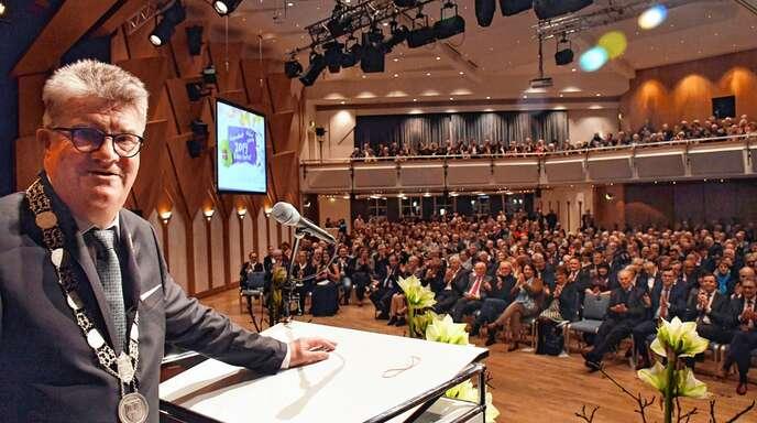 Hat »Appetit auf die Zukunft«: Oberbürgermeister Hubert Schnurr hat beim Neujahrsempfang in Bühl am Donnerstag bekannt gegeben, noch eine Amtszeit bleiben zu wollen.