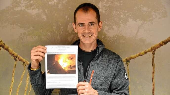 Ein Schulkamerad aus Hecklingen, woher auch Pfarrer Kopp stammt, hat durch ein Feuer sein Hab und Gut verloren. Rüdiger Kopp hofft nun auf Spenden.